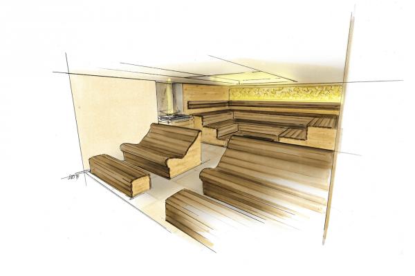 KWS Kräutersauna Dolce Vita Hotel Feldhof Sketch